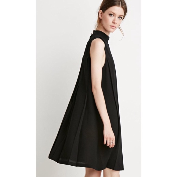 aa41a36d03c153 Forever 21 Trapeze Mock Neck Dress